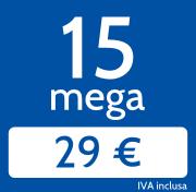 Adsl 15 Mega in download e 1024 Kb/s in upload a 29€/mese