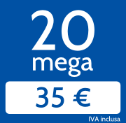 Adsl 20 Mega in download e 2048 Kb/s in upload a 35€/mese