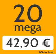 Adsl 20 Mega e telefonate a tutti i fissi nazionali a 42,90 €/mese invece di 57,00 €/mese