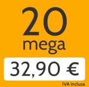 Adsl 20 Mega e telefonate a tutti i fissi nazionali a 32,90 €/mese invece di 47,00 €/mese