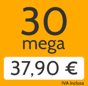 Adsl 30 Mega e telefonate a tutti i fissi nazionali a 37,90 €/mese invece di 52,00 €/mese